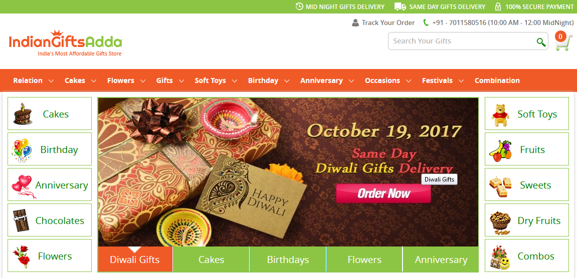 The Superior Place To Send Gifts, Cake, Flowers Online in India | IGA- It's All About Gifts