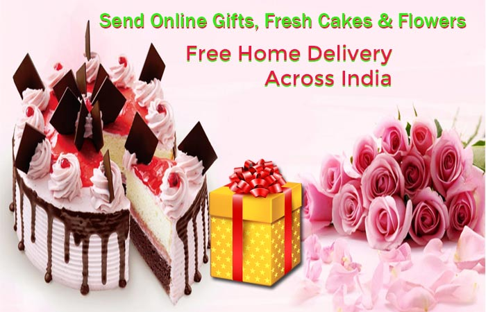 Send Online Gifts, Fresh Cakes and Flowers, Free Home Delivery Across India