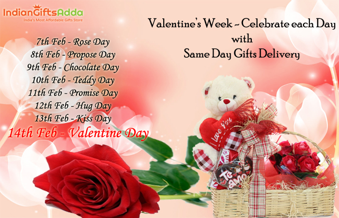 Valentine's Week – Celebrate Each Day with Same Day Gifts Delivery