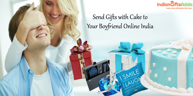 Order Gifts for Boyfriends – Send Gifts with Cake to Your Boyfriend Online India