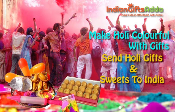 Make Holi Colourful with Gifts, Send Holi Gifts and Sweets to India