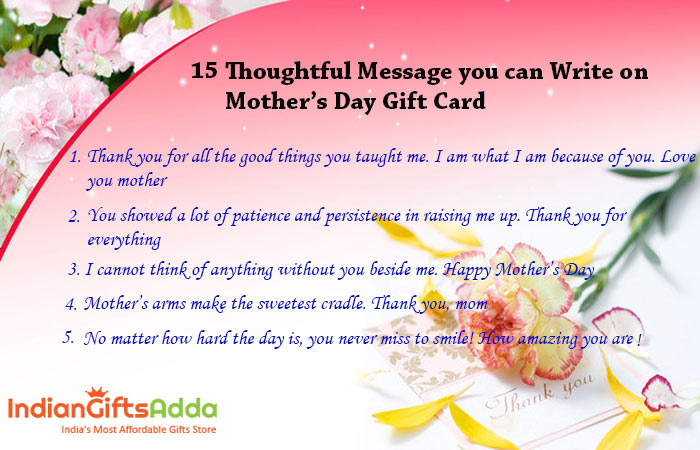 15 Thoughtful Message you can Write on Mother's Day Gift Card