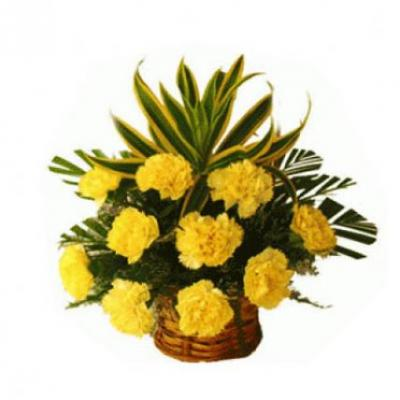 Send easter gifts to india easter gift flowers cakes delivery yellow carnation basket negle Image collections