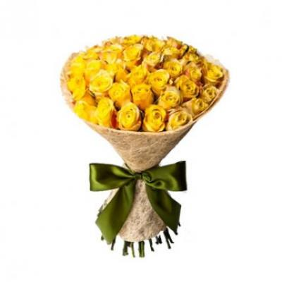 30 Yellow Roses Bouquet