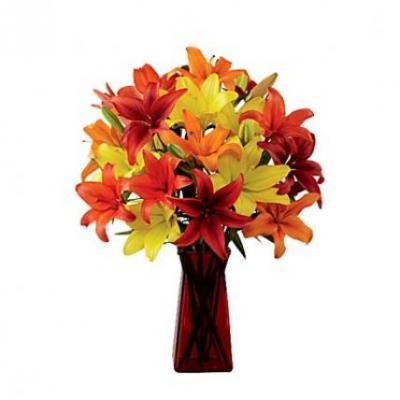 Mix Lily Vase