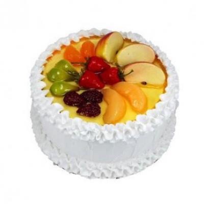 Fresh Fruit Vanilla Cake
