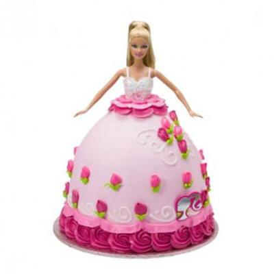 Barbie Doll Cake Chocolate Flavor