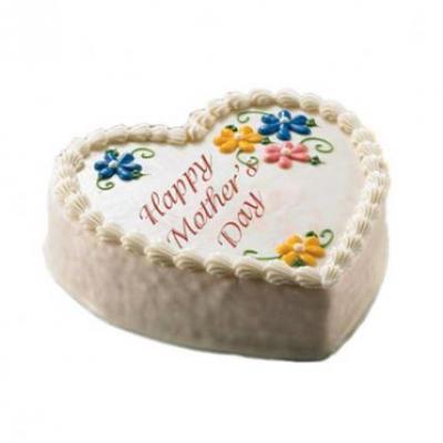 Heart Shape Cake For Mom