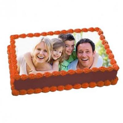 Chocolate Photo Cake Square