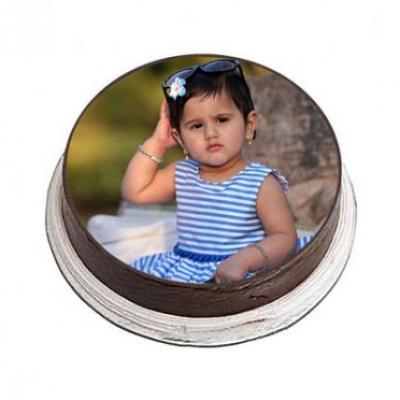 Chocolate Photo Cake Round