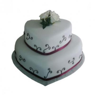 2 Tier Heart Shape Cake