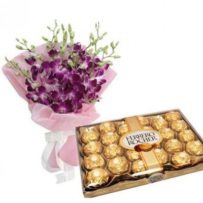 Orchids With Ferrero Rocher