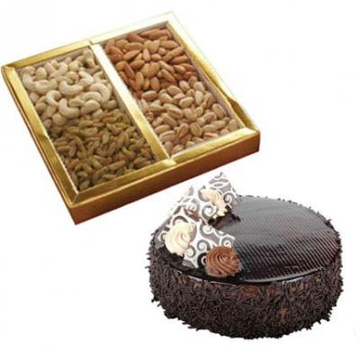 Mix Dry Fruits With Cake