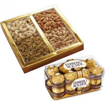 Dry Fruits With Ferrero Rocher