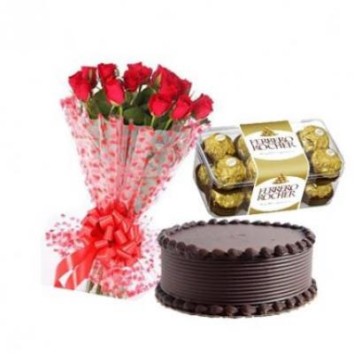 Roses, Cake With Ferrero Roc