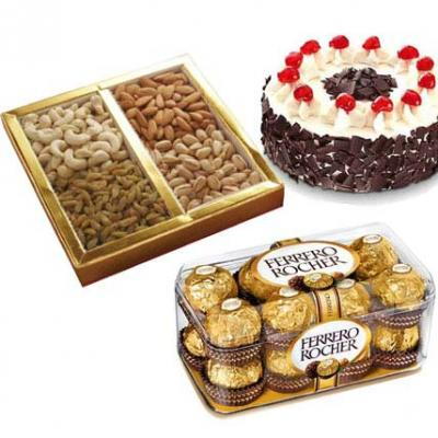 Chocolate, Cake With Dry Fruits