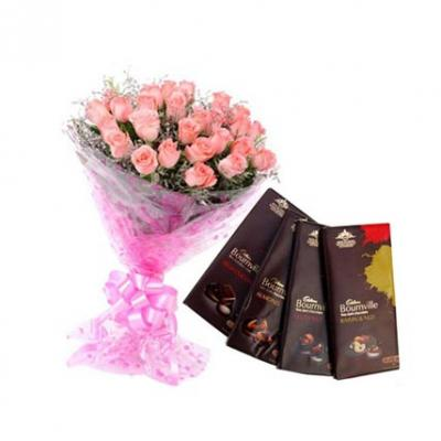 Pink Roses With Bournville