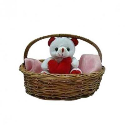 Teddy In Basket