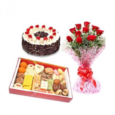 Sweets, Cake With Roses