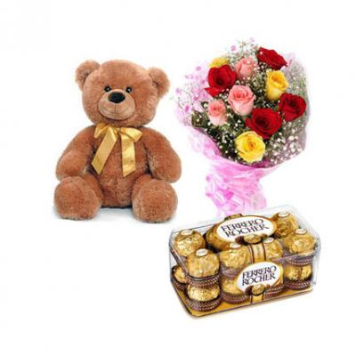 Teddy, Mix Roses With Ferrero Rocher