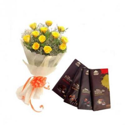 Yellow Roses With Bournville