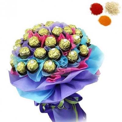 24 Pcs Ferrero Rocher Bouquet With Rolli Tikka