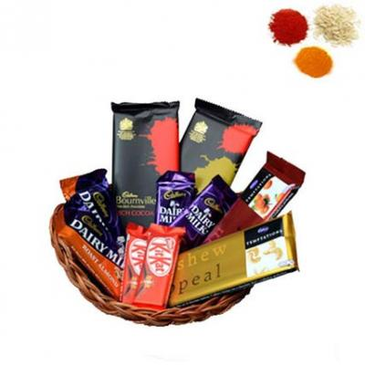 Indian Chocolate Basket With Rolli Tikka