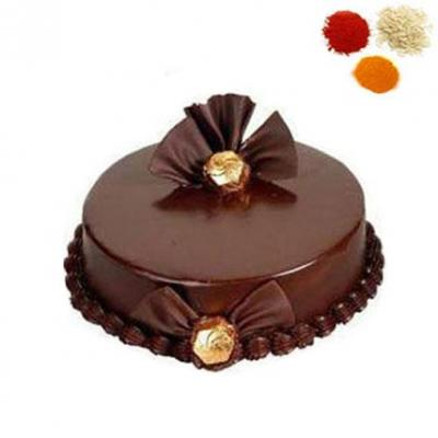 Chocolate Truffle Cake With Rolli Tikka