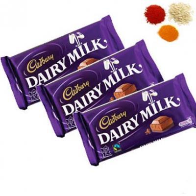 Bhai Dooj Rolli Tikka With Cadbury Dairy Milk Chocolates