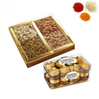 Rolli Tikka With Dry Fruits, Chocolates