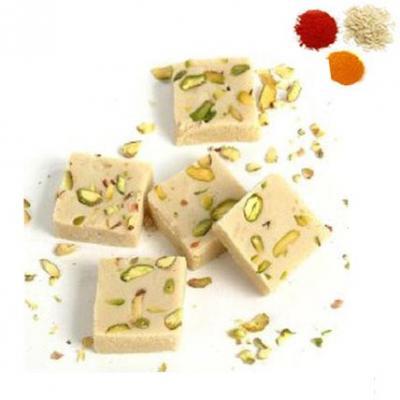 Rolli Tikka With Mawa Burfi Sweets