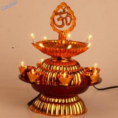Om Double Layer Diya Lights