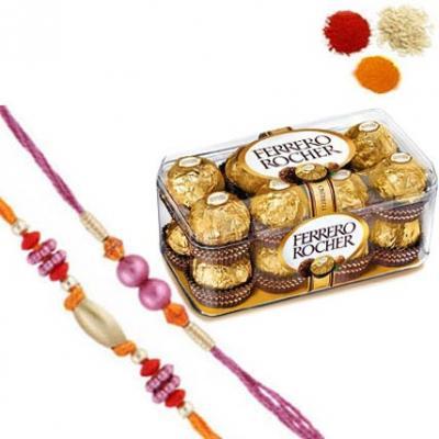Rakhi With Ferrero Rocher Chocolate