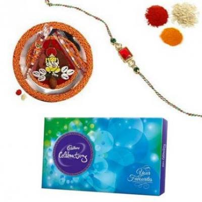 Rakhi Thali With Cadbury Celebration Chocolate