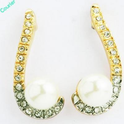 Long Pearl Diamond Earings