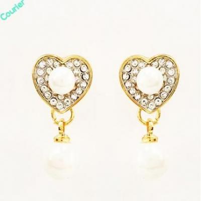 Heart Pearl Earings