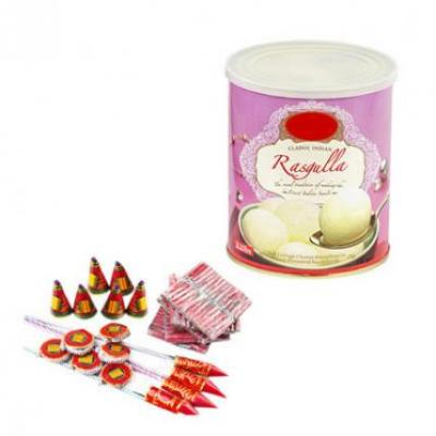 Rasgulla With Crackers