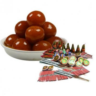 Gulab Jamun With Crackers