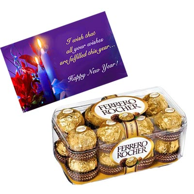 New Year Card With Chocolates