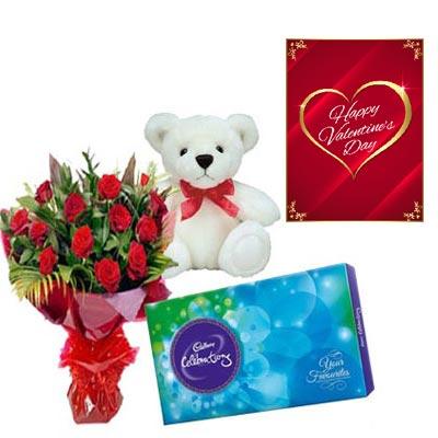 Valentine Roses Combo