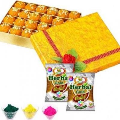 Holi Gulaal With Motichoor Laddu