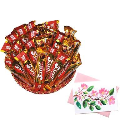 5 Star Chocolates Hamper With Card