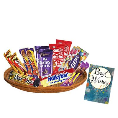 Mixed Chocolates Exclusive Hamper With Card