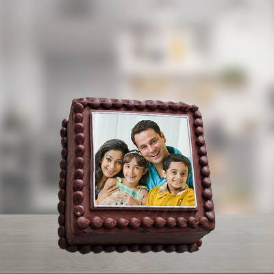 Chocolate Truffle Photo Cake Square