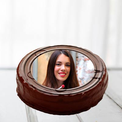Chocolate Truffle Photo Cake Round