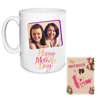 Personalized Mom Photo Mug & Greeting Card