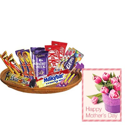 Exclusive Chocolate Basket With Mothers Day Card