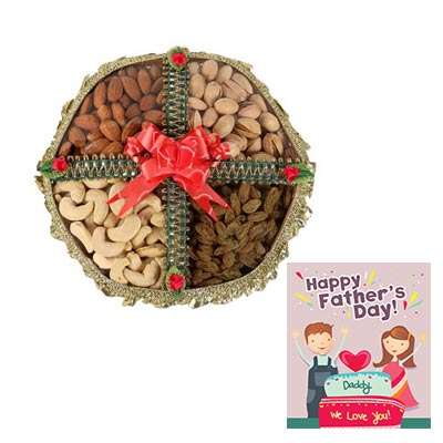 Mixed Dry Fruits Box with Fathers Day Card