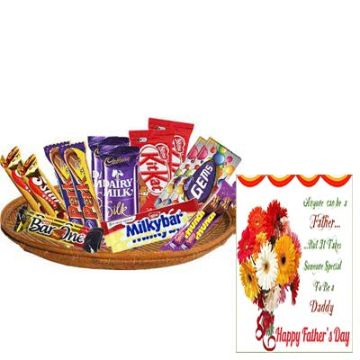 Exclusive Chocolate Basket With Fathers Day Card