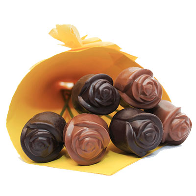 Dark and Milk Chocolates Roses